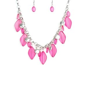 Pink necklace/earrings paparazzi